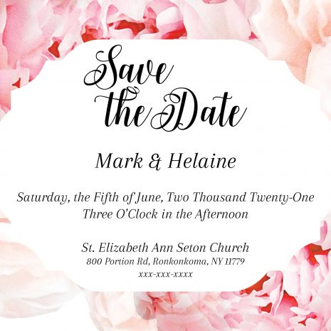 Cottage Collection Peony Save the Date Card